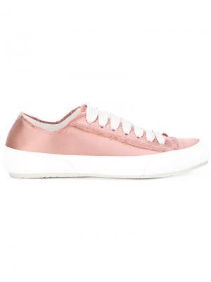 Raw edge lace-up trainers Pedro Garcia. Цвет: розовый и фиолетовый