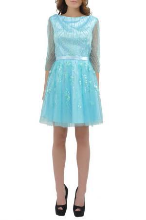 Платье Faust. Цвет: голубой
