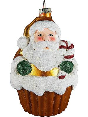 Украшение Дед Mister Christmas. Цвет: коричневый, темно-коричневый, темно-красный