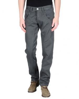 Джинсовые брюки NWY NEVER WITHOUT YOU. Цвет: свинцово-серый