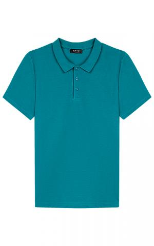 Зеленая футболка-поло Al Franco