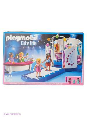 Фэшн и Стиль: Кастинг моделей с подиумом Playmobil. Цвет: белый, синий