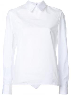 Рубашка с оборками на спине Golden Goose Deluxe Brand. Цвет: белый