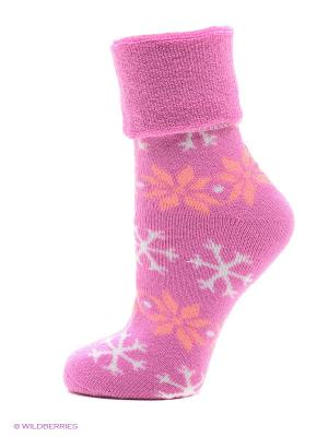 Носки для дома HOSIERY. Цвет: фуксия