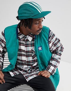 Adidas Skateboarding Зеленая 4-панельная кепка CE2606. Цвет: зеленый