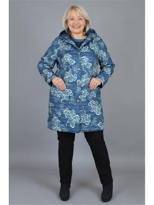 Пальто NadiN. Цвет: синий, голубой