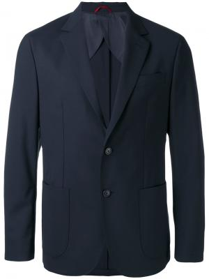 Классический пиджак Fay. Цвет: чёрный