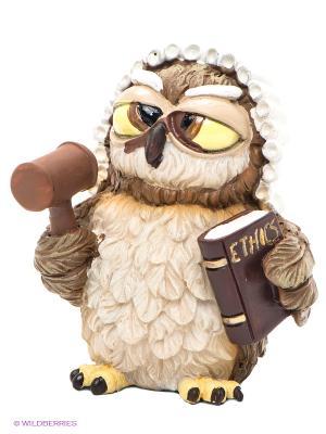 Фигурка-сова Судья Око The Comical World of Stratford. Цвет: коричневый, желтый, черный