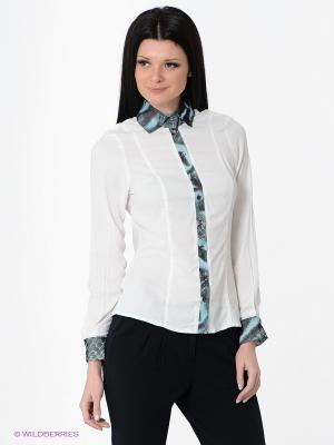 Блузка Valeria Lux. Цвет: молочный, белый