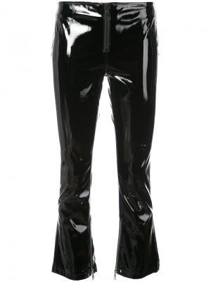 Укороченные виниловые брюки Luella Rta. Цвет: чёрный