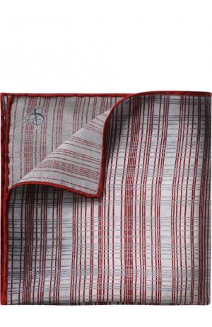 Шелковый платок с узором Canali. Цвет: бордовый