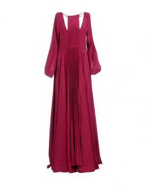 Длинное платье FRANCESCA PICCINI. Цвет: красно-коричневый