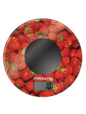 Весы кухонные  MAXIMA МS-067 (Клубника). Цвет: красный