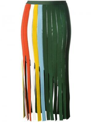 Юбка с вырезными деталями Marco De Vincenzo. Цвет: зелёный