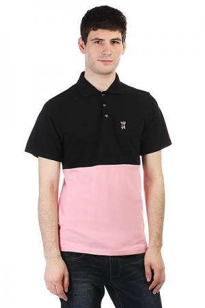 Поло  P023 Black/Pink Anteater. Цвет: черный,розовый