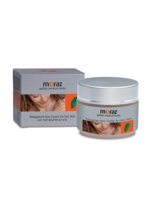 Увлажняющий дневной крем для сухой кожи лица Moraz. Цвет: белый