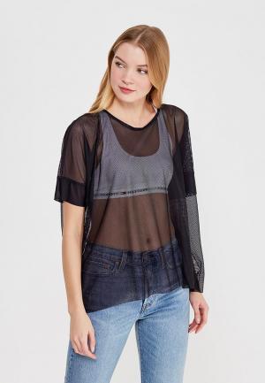 Блуза Pepen. Цвет: черный