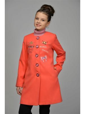 Пальто DESTY. Цвет: коралловый
