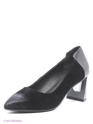 Туфли UNITED NUDE. Цвет: черный, серый