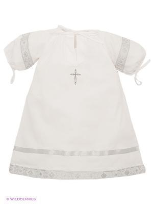 Рубашка Ангел мой. Цвет: серебристый, белый