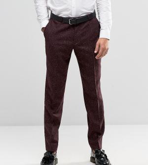 Heart & Dagger Строгие зауженные брюки в крапинку. Цвет: красный