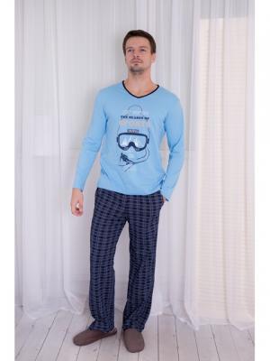 Домашний костюм BASIL. Цвет: голубой
