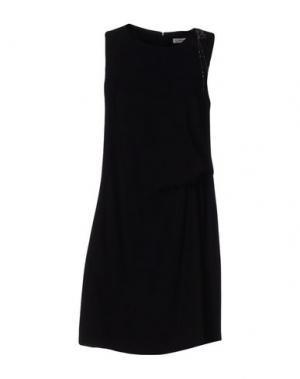 Платье до колена CAPPELLINI by PESERICO. Цвет: черный