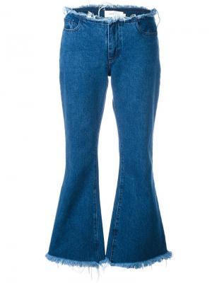 Расклешенные джинсы с необработанными краями Marquesalmeida Marques'almeida. Цвет: синий