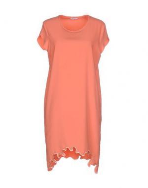 Короткое платье BEAYUKMUI. Цвет: лососево-розовый