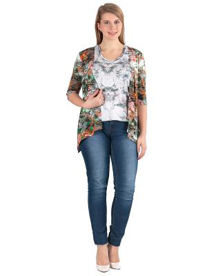 Комплект одежды Yuliya Shehodanova. Цвет: белый, зеленый, оранжевый, серый