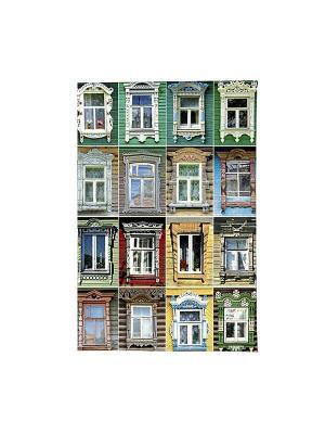Обложка для автодокументов Большие окна Mitya Veselkov. Цвет: зеленый, красный, желтый