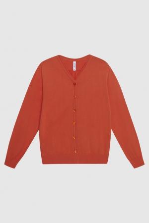 Кардиган Fulong Miller. Цвет: оранжевый