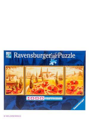 Паззл-триптих Маки Тосканы 1000 шт Ravensburger. Цвет: темно-синий