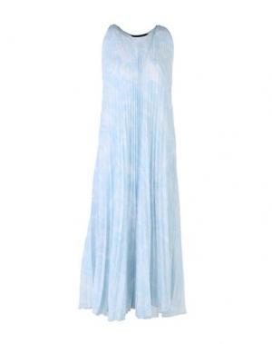 Платье длиной 3/4 TESS GIBERSON. Цвет: небесно-голубой