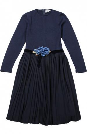 Платье с поясом Caf. Цвет: синий