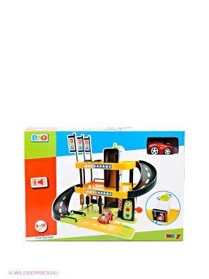 Игровой набор Трехуровневый гараж Smoby. Цвет: желтый, черный, красный