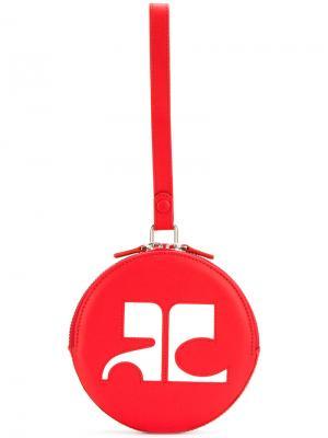 Круглый клатч с логотипом Courrèges. Цвет: красный