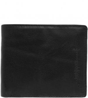 Черное портмоне из натуральной кожи aunts & uncles. Цвет: черный
