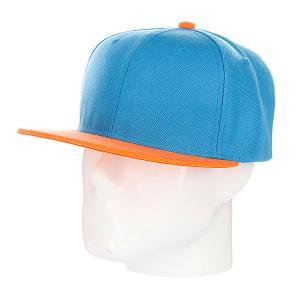 Бейсболка True Spin Tone Blank Snapback Palms TrueSpin. Цвет: оранжевый,синий