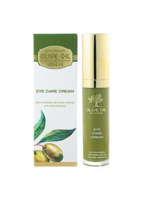 Крем для кожи вокруг глаз Olive Oil of Greece. Цвет: белый, зеленый, оливковый