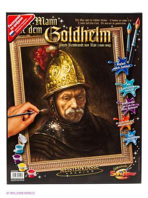 Набор для раскрашивания Мужчина в золотом шлеме, Рембрандт ван Рейн Schipper. Цвет: коричневый