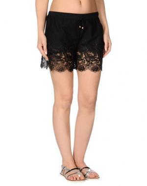 Пляжные брюки и шорты MISS NAORY. Цвет: черный
