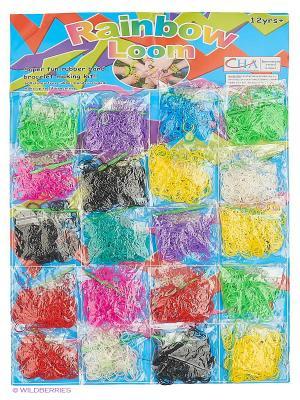 Резинки для плетения Loom Bands. Цвет: белый, желтый, бирюзовый, зеленый, красный, розовый, фиолетовый, черный