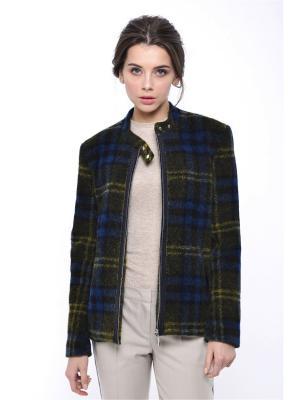 Куртка MORU. Цвет: коричневый, молочный, темно-серый