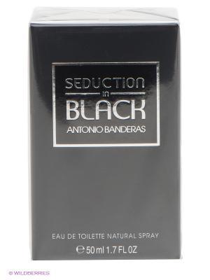 Вода туалетная Seduction In Black Man, 50 мл спрей ANTONIO BANDERAS. Цвет: черный, белый