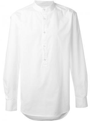 Рубашка с воротником-стойкой Blk Dnm. Цвет: белый