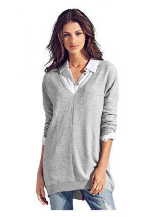 Пуловер B.C. BEST CONNECTIONS. Цвет: ягодный