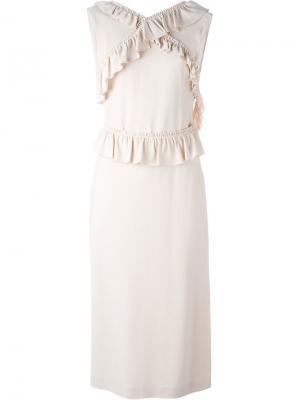Платье с рюшами Simone Rocha. Цвет: розовый и фиолетовый