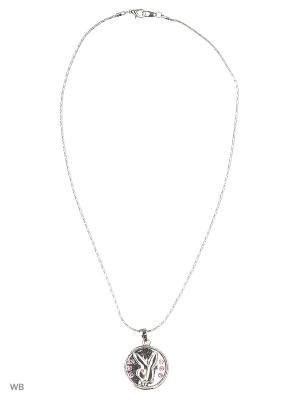 Цепочка с кулоном Bizon. Цвет: серый