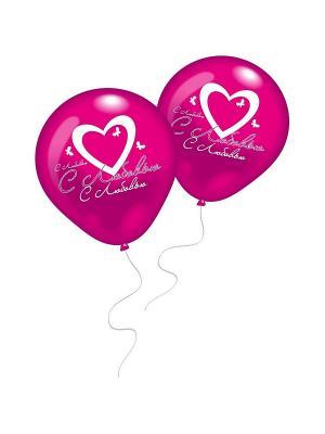 10 шариков С Любовью! Everts. Цвет: розовый